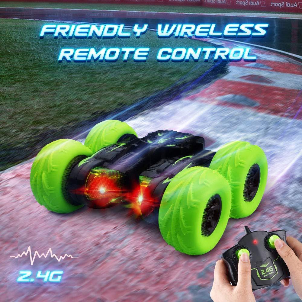 OYE HOYE Ferngesteuertes Auto, RC Auto 360 Grad Flips 4WD Rennauto Doppelseitiges Drehen RC Auto Offroad Drahtlose 2.4 GHz 12KM/H Wasserdicht Auto