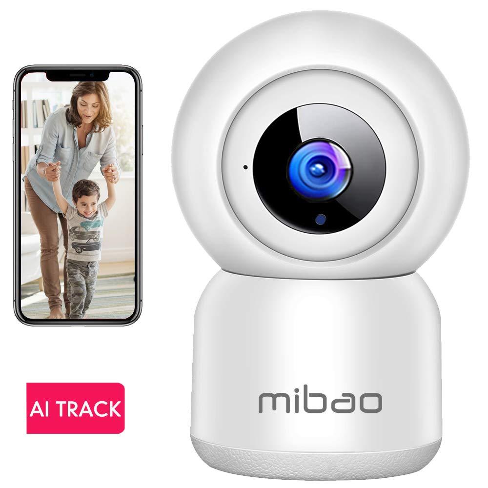 WLAN IP Kamera Überwachungskamera 1080P,IP Kamera WiFi Mibao Nachtsicht 2 Wege-Audio Smart