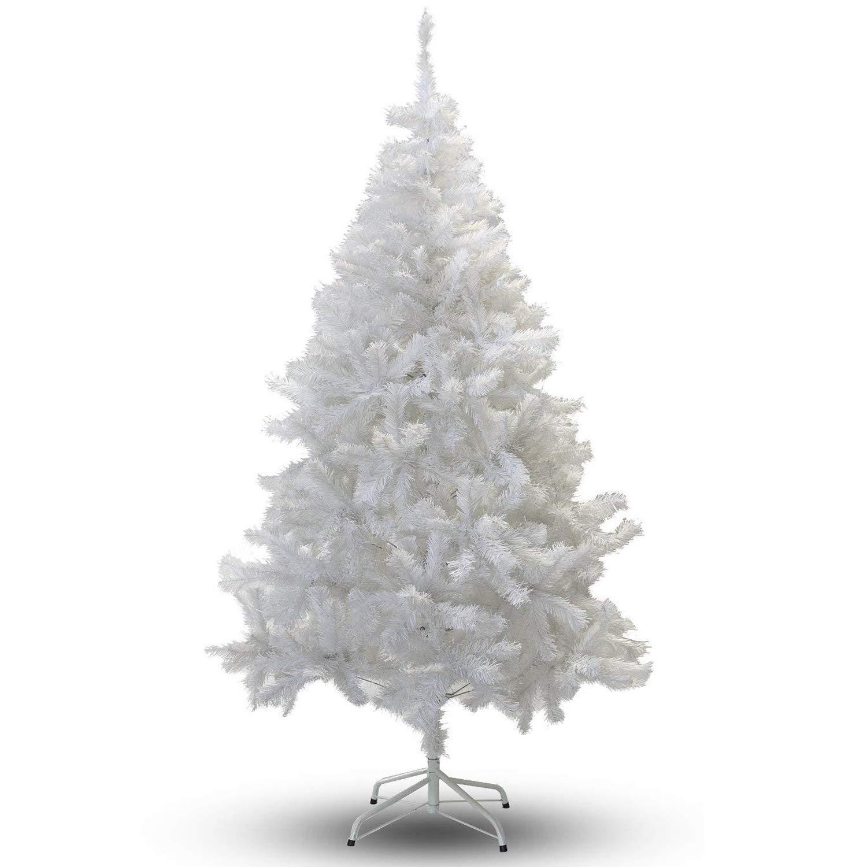VINGO Weihnachtsbaum 180 cm ca. 650 Weiß PVC Künstlicher Weihnachtsbäume