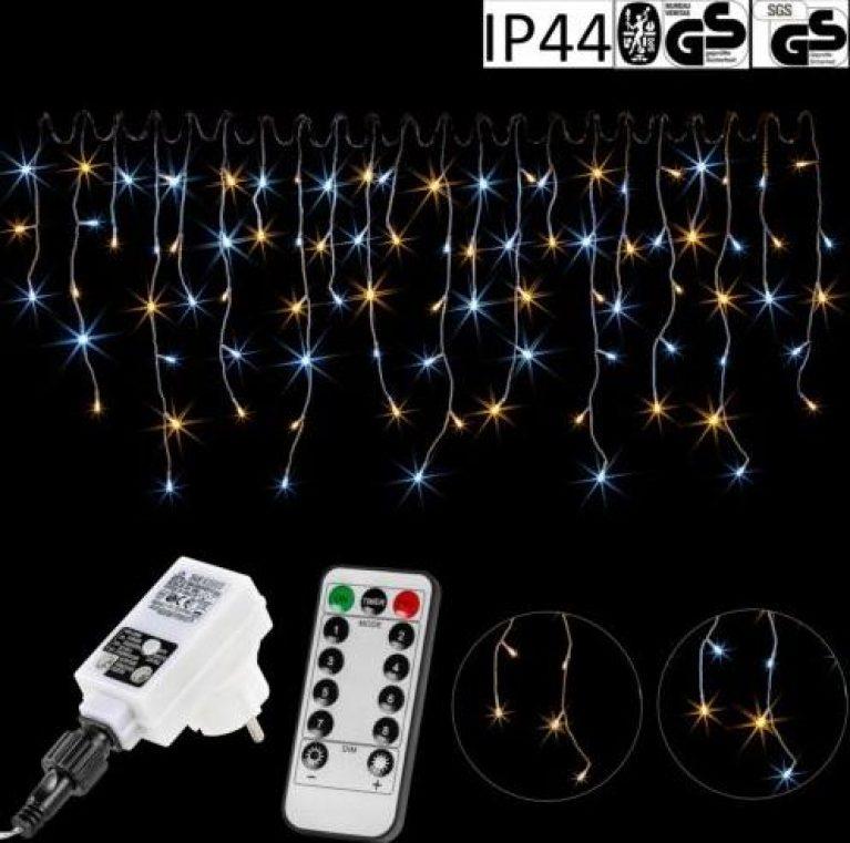 VOLTRONIC LED Lichterkette Eisregen 5m 10m 15m Weihnachtsbeleuchtung außen innen