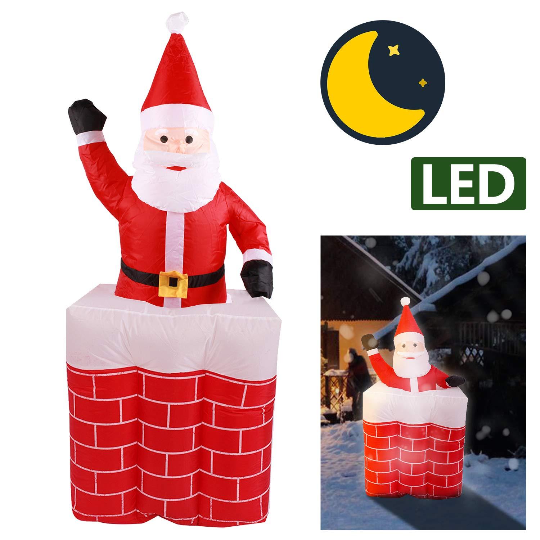 VINGO Aufblasbarer Weihnachtsmann XL 160CM mit Gebläse inkl