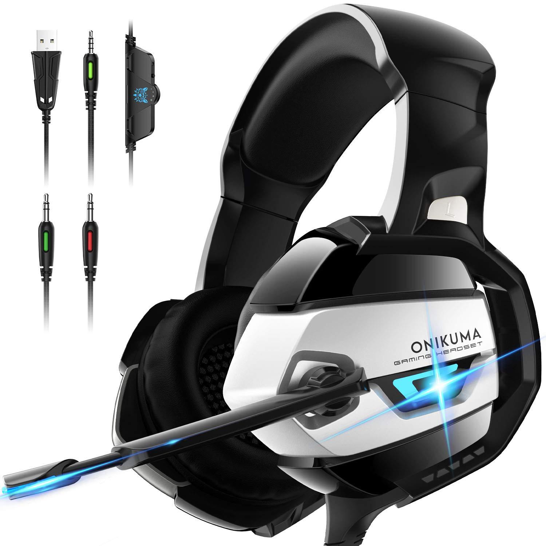 ONIKUMA Gaming Kopfhörer mit 7.1 Surround Sound,Gaming headset, Xbox One Kopfhörer