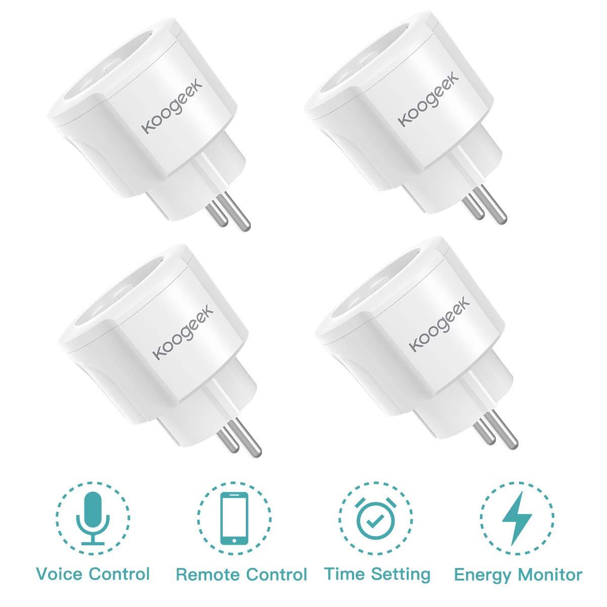 Smart Plug Koogeek Intelligente Steckdose (4 Packs)