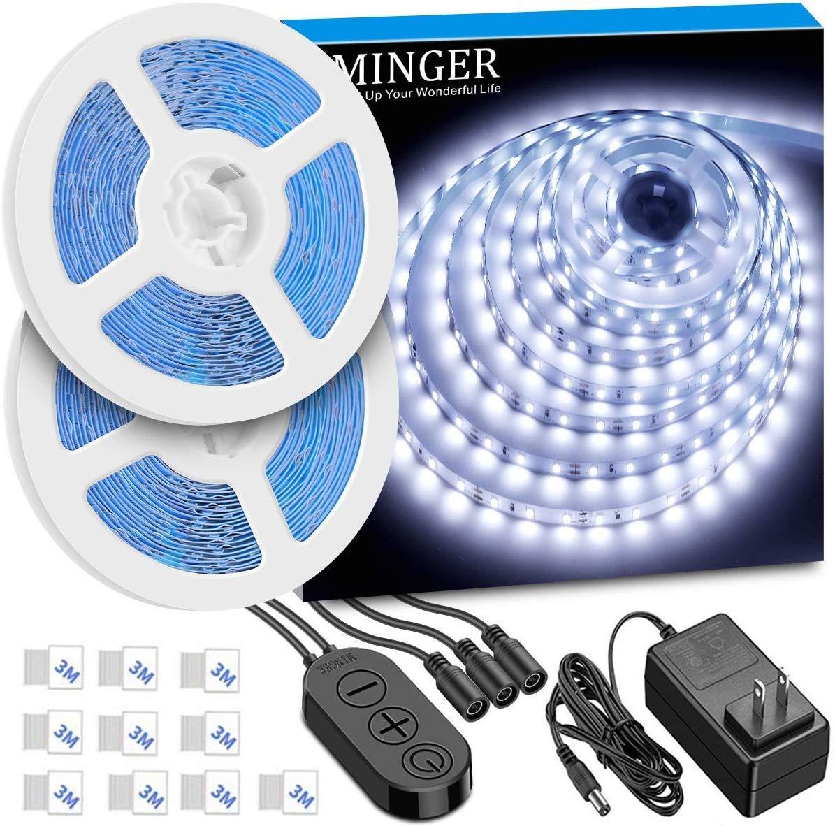 10M RGB Lichterkette, Minger 100 LEDs 10M RGB Multifarbe Kupferdrahtlicht APP steuered wasserdicht 7 Szenendodi Innen und Außen