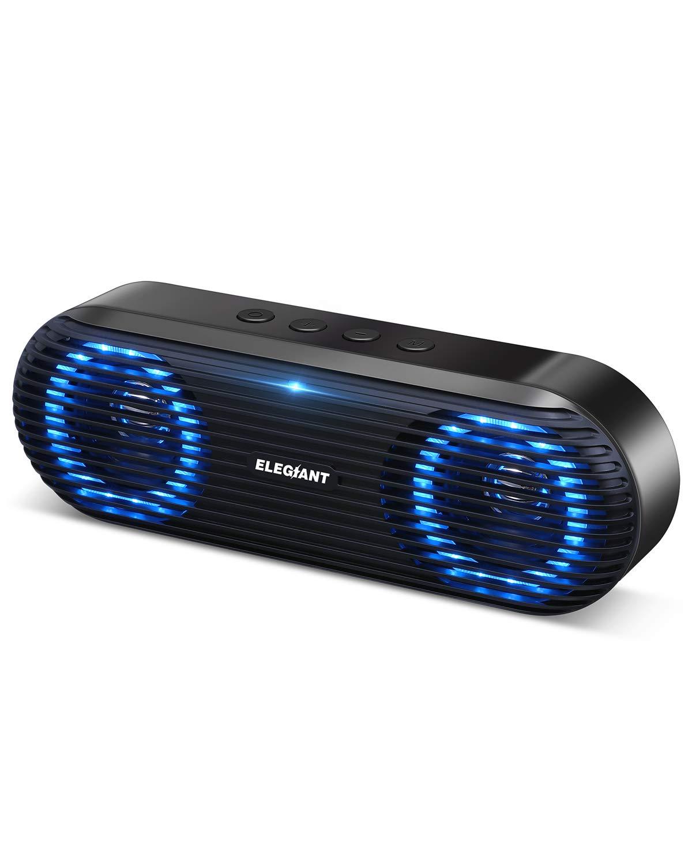 ELEGIANT Bluetooth Lautsprecher, Tragbarer Bluetooth 5.0 Lautsprecher Wireless Soundbox 10W Musikbox Boombox