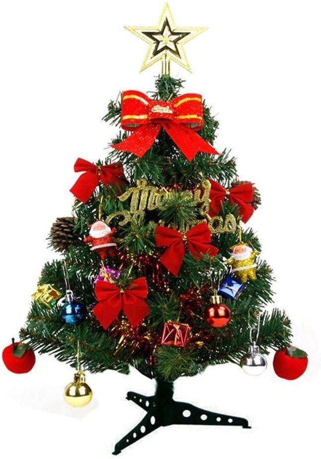Weihnachtsbaum Mit Ornamenten + Licht Feiertagsfest Künstliche PVC Weihnachtsbaum Hängende Ornamente Streifen Licht