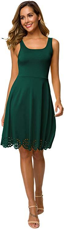 CHICIRIS Frauen Beiläufig Kleid Strandkleid Cocktail Kleid Sommer Ärmellos Kleid Kurze A Line Kleider
