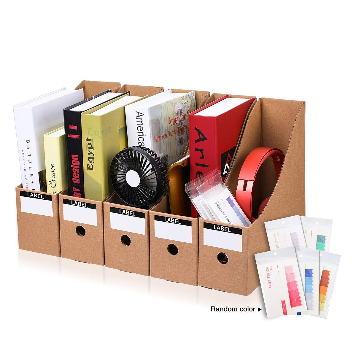 CAVEEN Zeitschriftensammler aus Karton 5 Teilig für Zeitschriften Datei