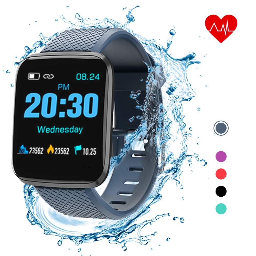 Lixada Fitness Tracker D13 1.3in Intelligente Uhren 116 Plus Pulsuhr Sportuhren Armband