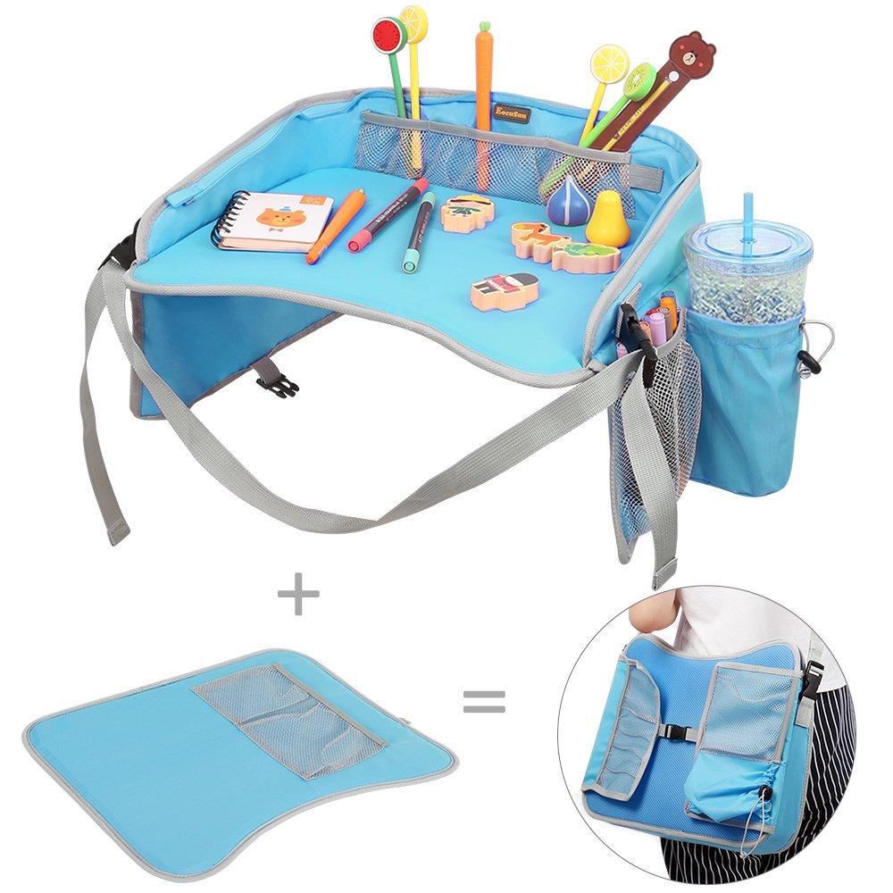 Kinder Knietablett Reisetisch EocuSun Play Tray Spiel und Esstisch Spieltisch Autositz Tisch