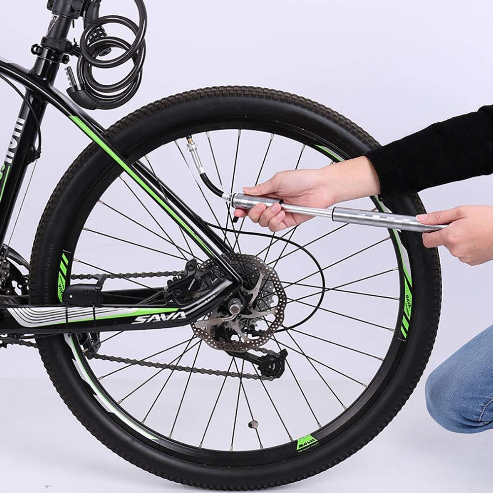 Tragbare Mini-Fahrradpumpe für Presta und Schrader Ventile