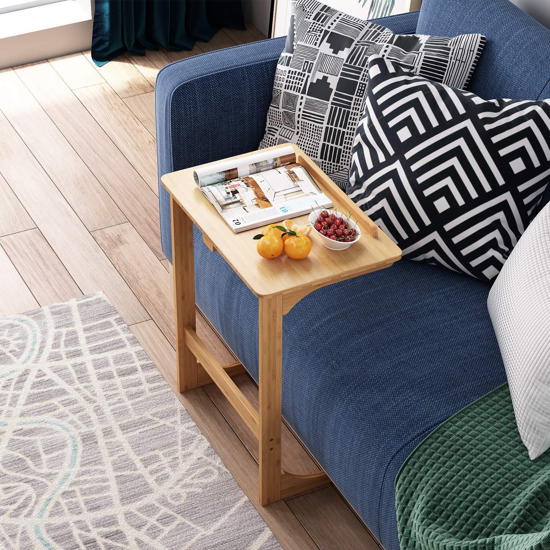 Laptoptisch Bambus Betttisch Laptopständer fürs Bett Laptop Winkel höhenverstellbar 60×39.5x70cm