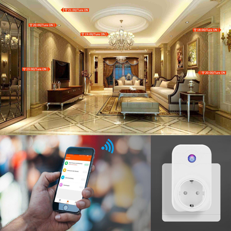 Leyuee WiFi Steckdose, WiFi Smart Plug – intelligente WLAN Steckdose
