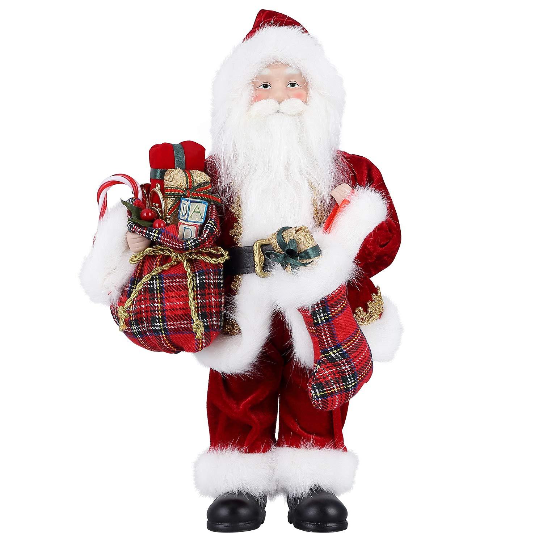 himaly Weihnachtsmann 12 Zoll Weihnachtspuppe Viggo 30 cm Höhe