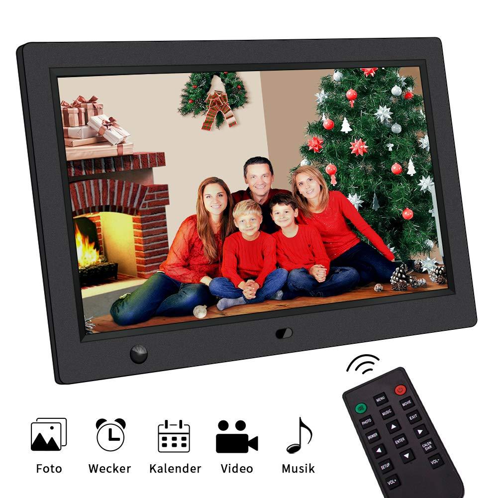 Digitaler Bilderrahmen 10 Zoll Bewegungssensor Fernbedienung 1024 * 600 Pixel Digiframe Multifuntion