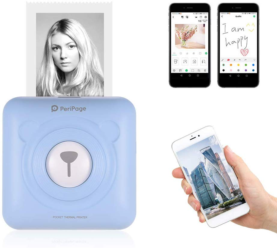 🎁🎁Gewinnspiel🎁🎁 — Mini Wireless BT Picture / Photo Mobile Printer