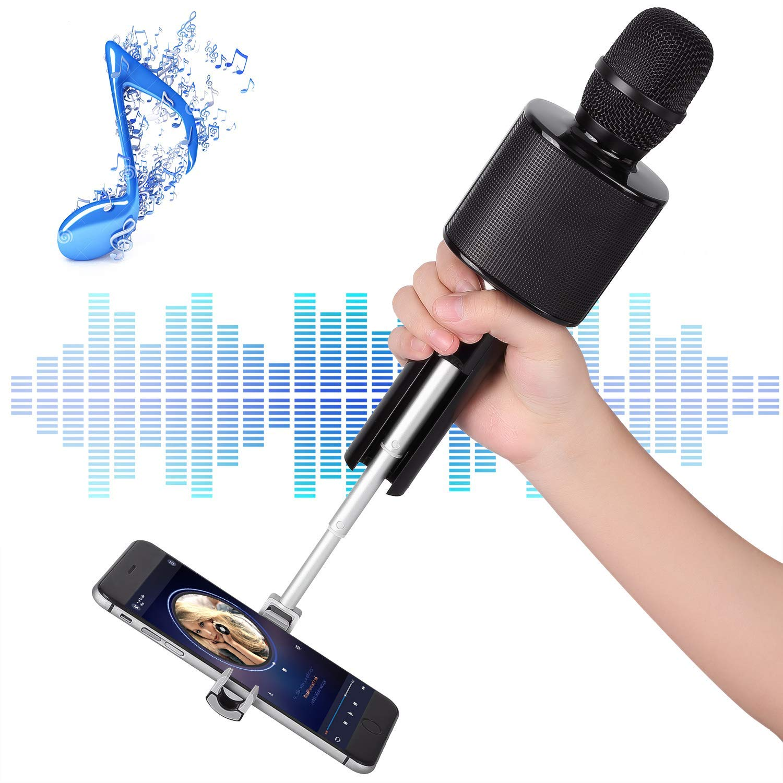 Karaoke Mikrophon , Mbuynow Bluetooth Mikrofon mit Handyhalterung Portable Karaoke Kinder