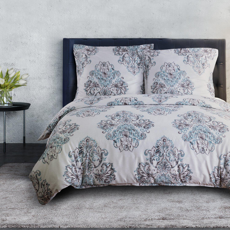 Bedsure Bettwäsche 135×200 cm Bettbezug Set mit Damast Muster