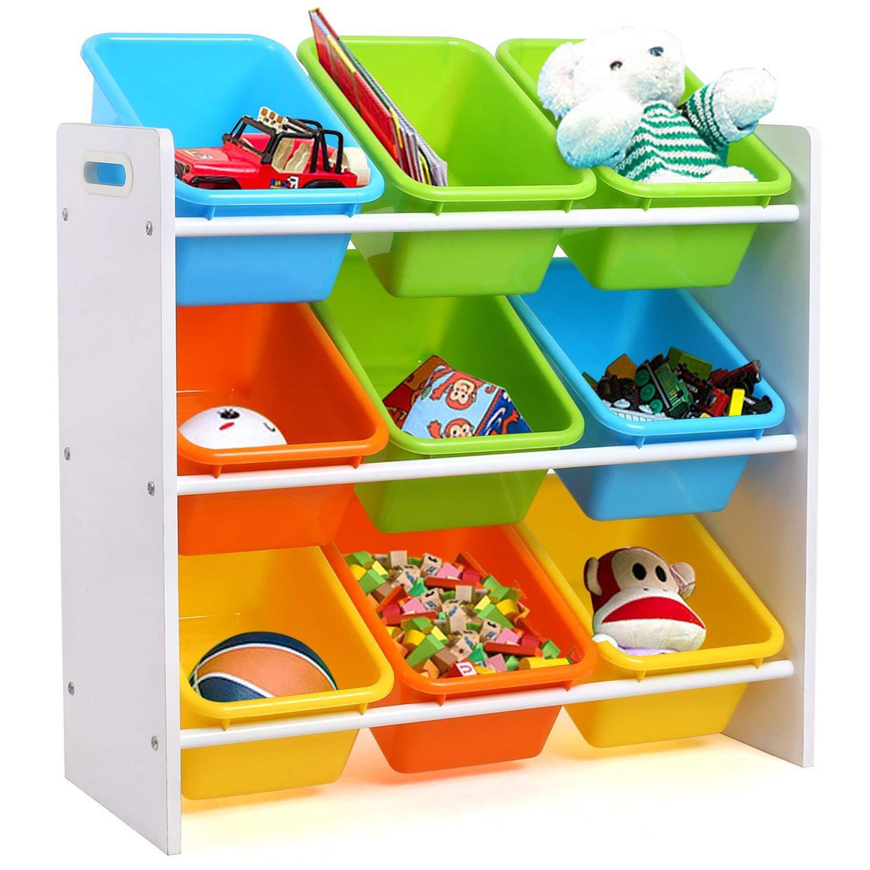 Homfa Aufbewahrungsregal Kinderregal Spielzeugregal Spielzeugkiste Kommode