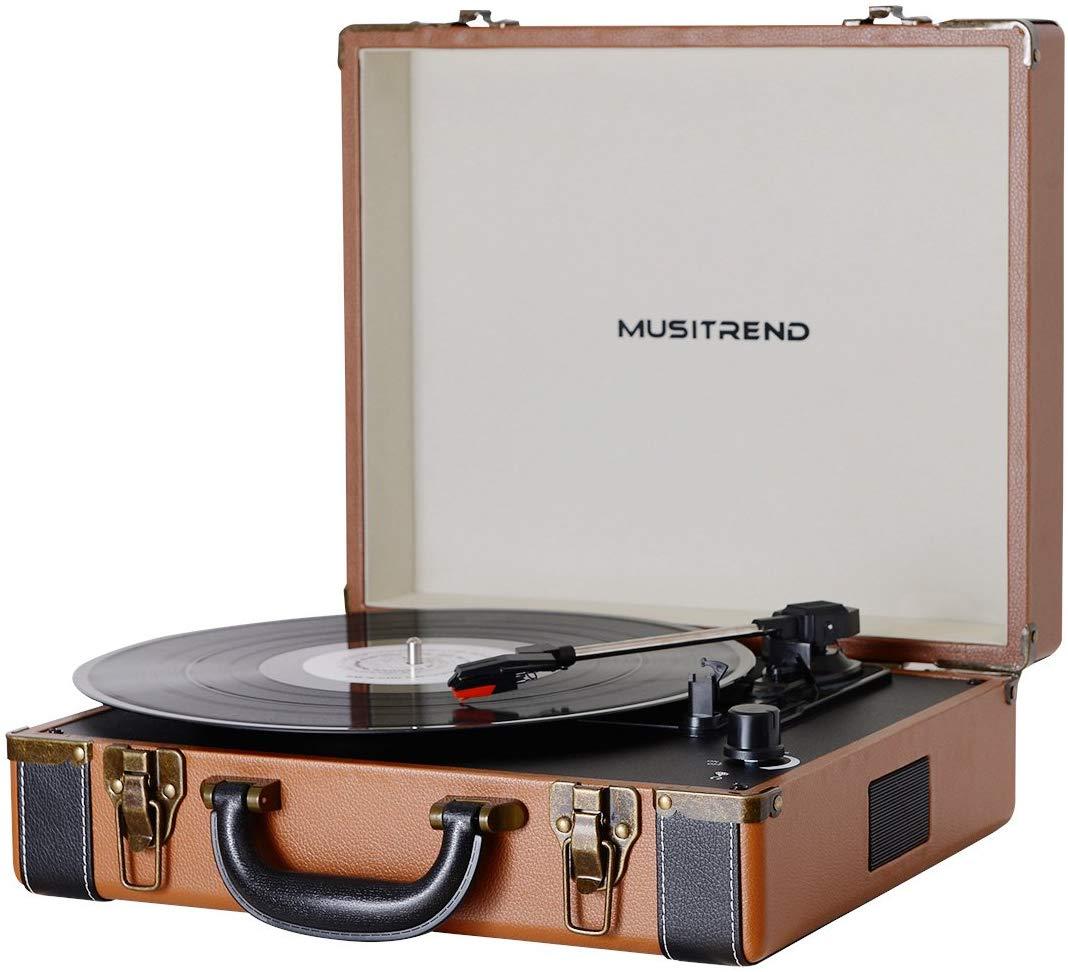 MUSTRIEND Plattenspieler 33/45/78 aus Holz