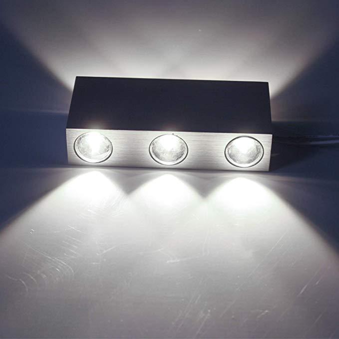 LED Wandleuchte Innen Wandlampe Außen 6W Wasserdicht Modern