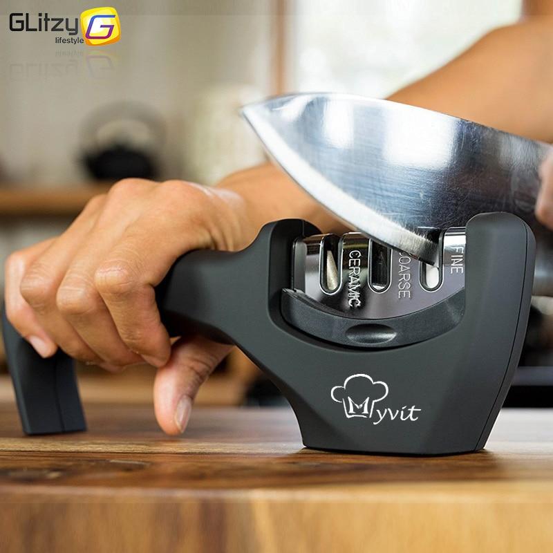 Messer Spitzer 3 Stufen Professionelle Küche Schärfen Stein Grinder messer