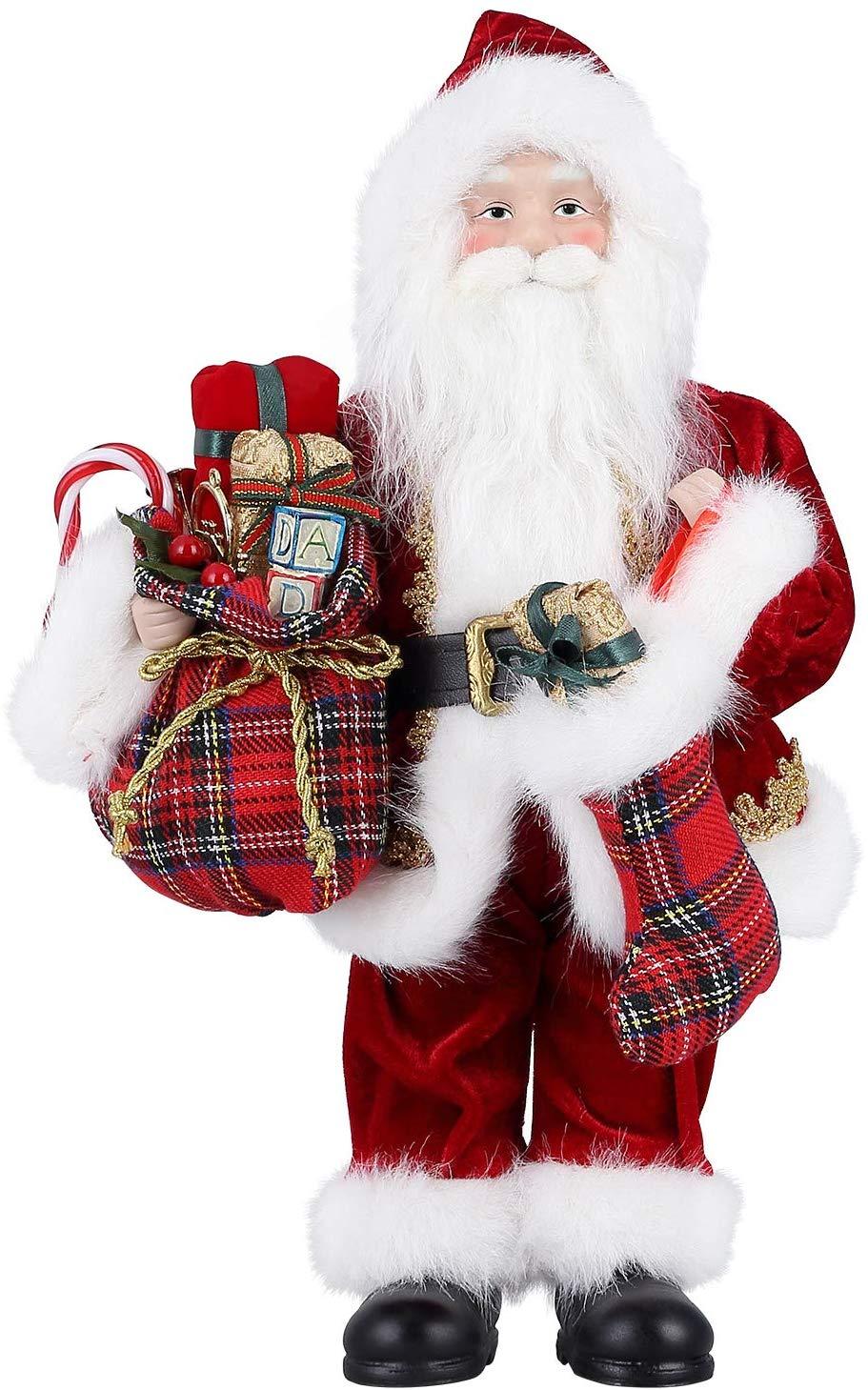 himaly Weihnachtsmann 12 Zoll Weihnachtspuppe Viggo 30 cm Höhe Weihnachtsmänner
