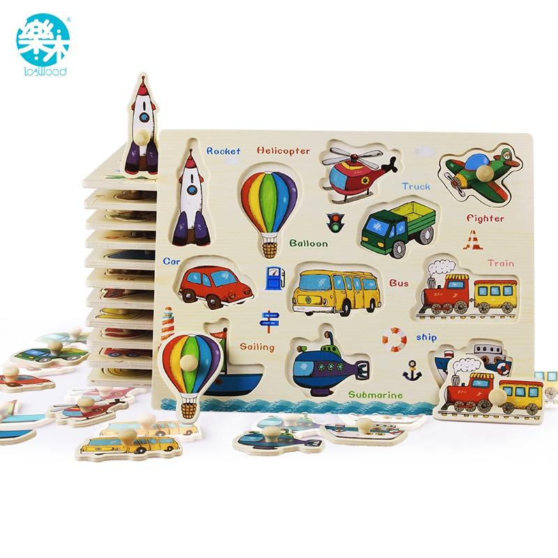 Baby Spielzeug Montessori holz Puzzle/Hand Greifen Bord Set