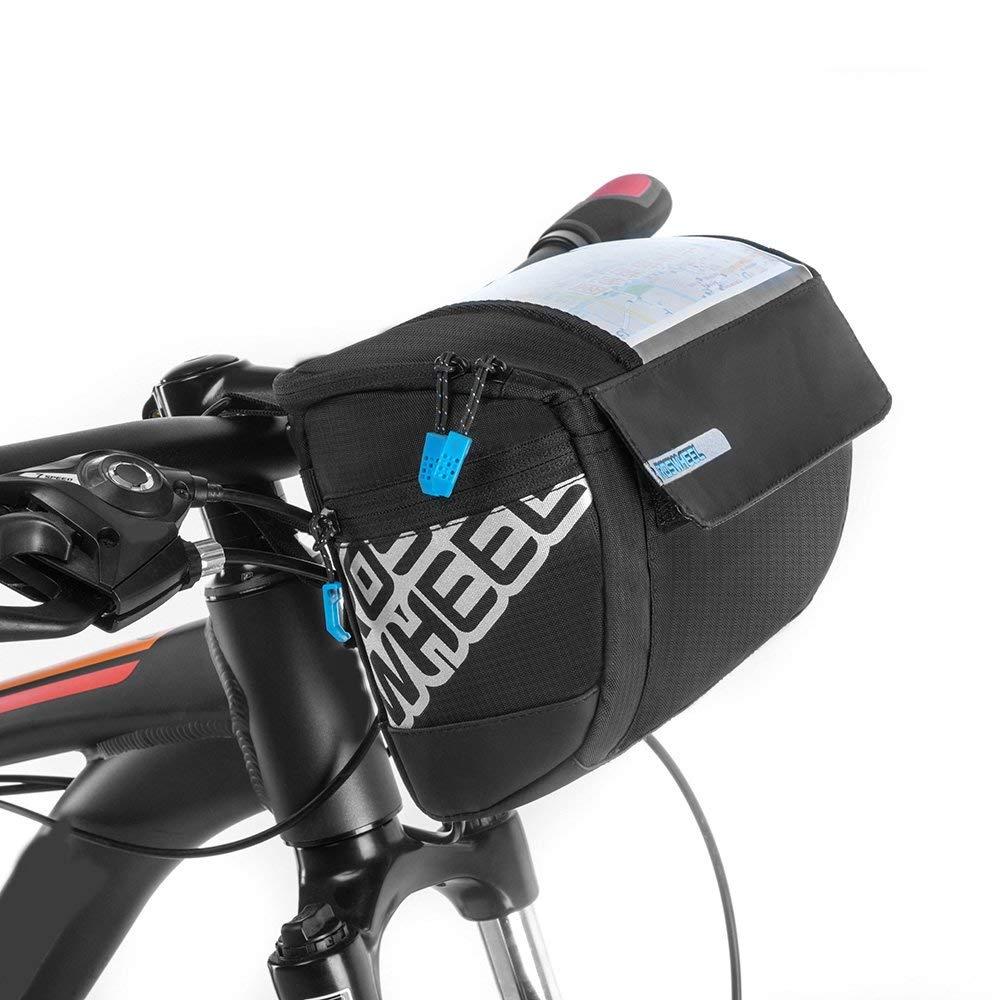 Docooler Fahrrad Lenkertasche multifunktional mit Transparentem PVC