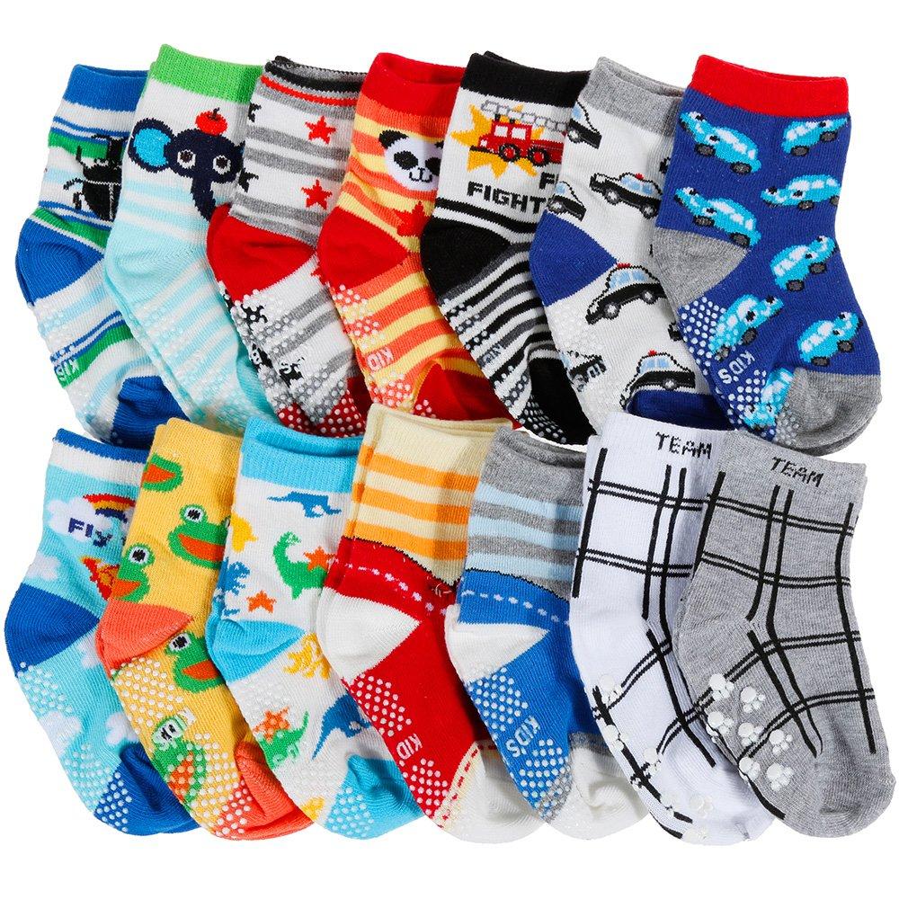 Lictin 14 Paare Baby Antirutsch Socken Baby ABS Antirutsch Socken Anti-Rutsch Socken Antirutsch Babysocken