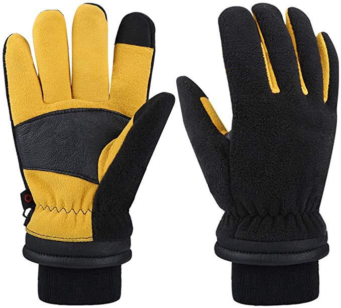 CCBETTER Winterhandschuhe für Männer Frauen Handschuh für Bedienung eines Touchscreens