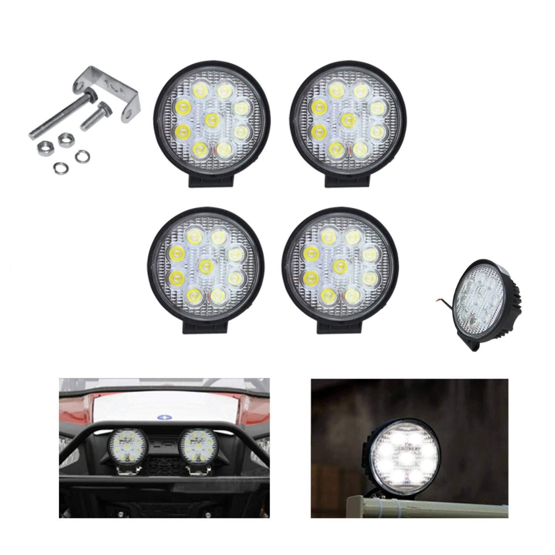 Hengda 4x 27w LED Arbeitsscheinwerfer,Runde Zusatzscheinwerfer 2430 LM