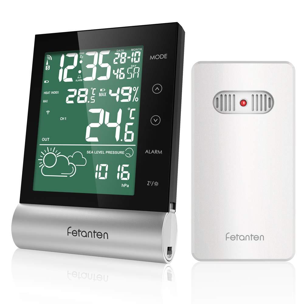 Wetterstation Funk mit Außensensor, Digital Thermometer Hygrometer