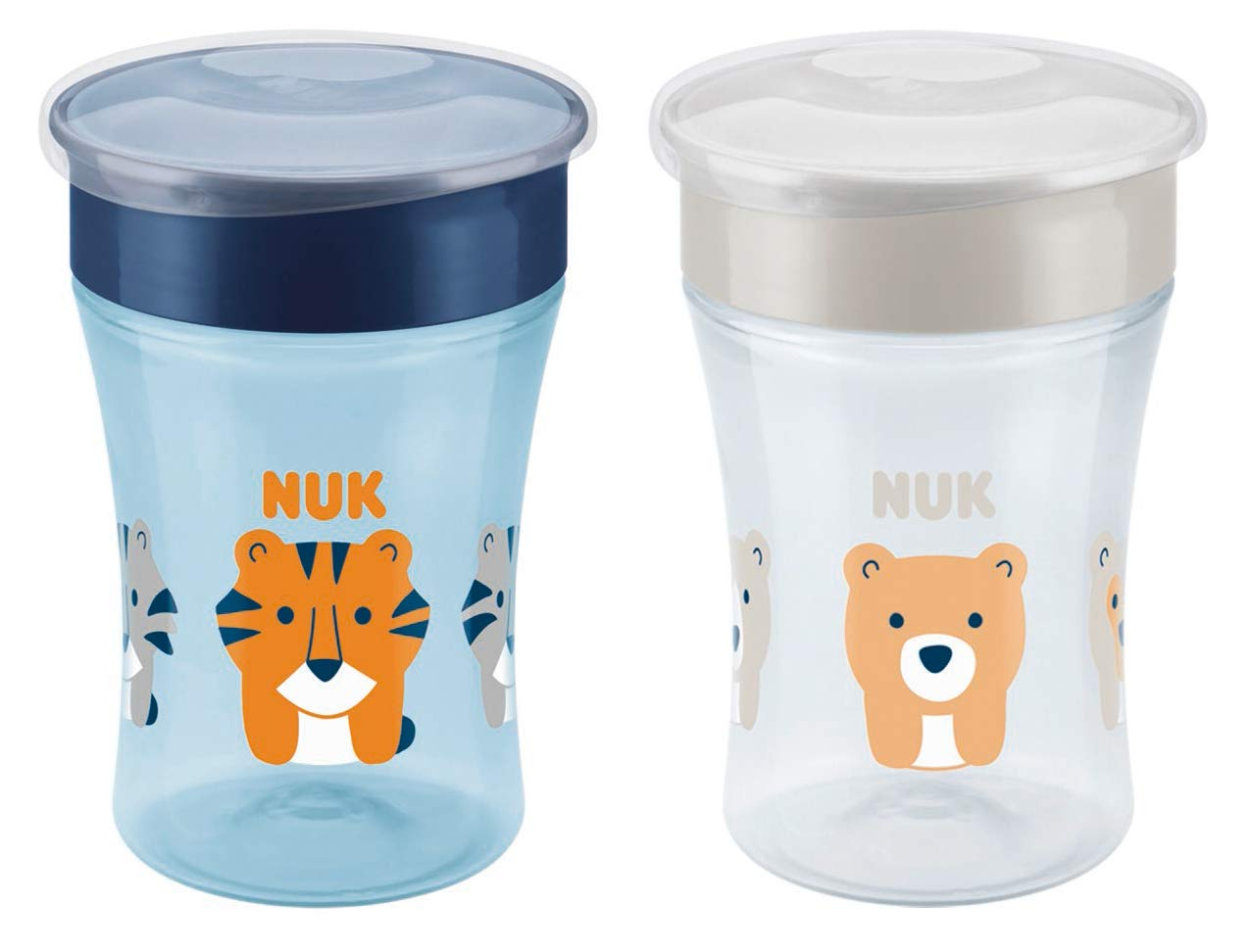 NUK Magic Cup Trinklernbecher 2er-Vorteilspack, 360° Trinkrand