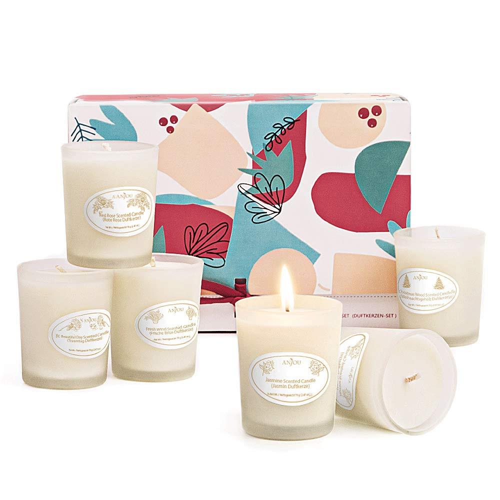 Anjou duftkerzenAroma Kerzen 6 Stück Geschenkset Natürliches wachs