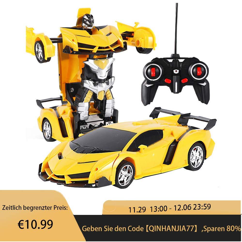 80% off Ferngesteuertes Auto Transform Roboter, 1/18 Modell Auto RC Car Auto Rennauto