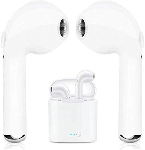 Drahtlose Bluetooth-Ohrhörer mit tragbarem Ladekoffer | Anti-Schweiß-Ohrstöpsel Gym Running | In-Ear | für alle Smartphones