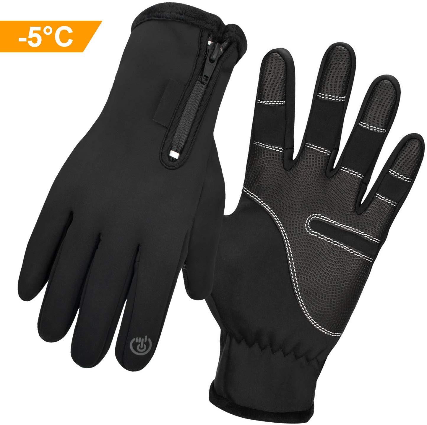 Kuyang Fahrradhandschuhe Männer Winter Fahrrad Handschuhe Touchscreen Handschuhe