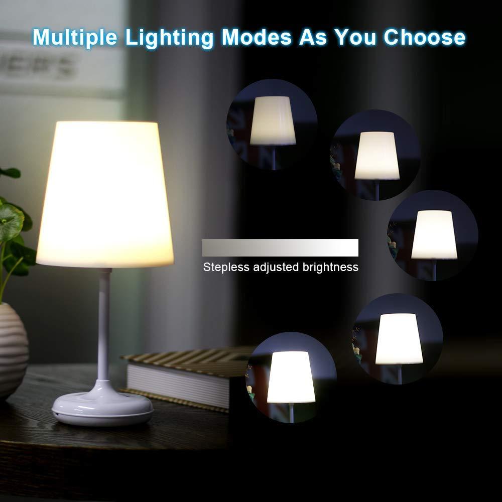 Brilex Tischlampe Nachttischlampe mit 10 Beleuchtungsmodi 1.5W