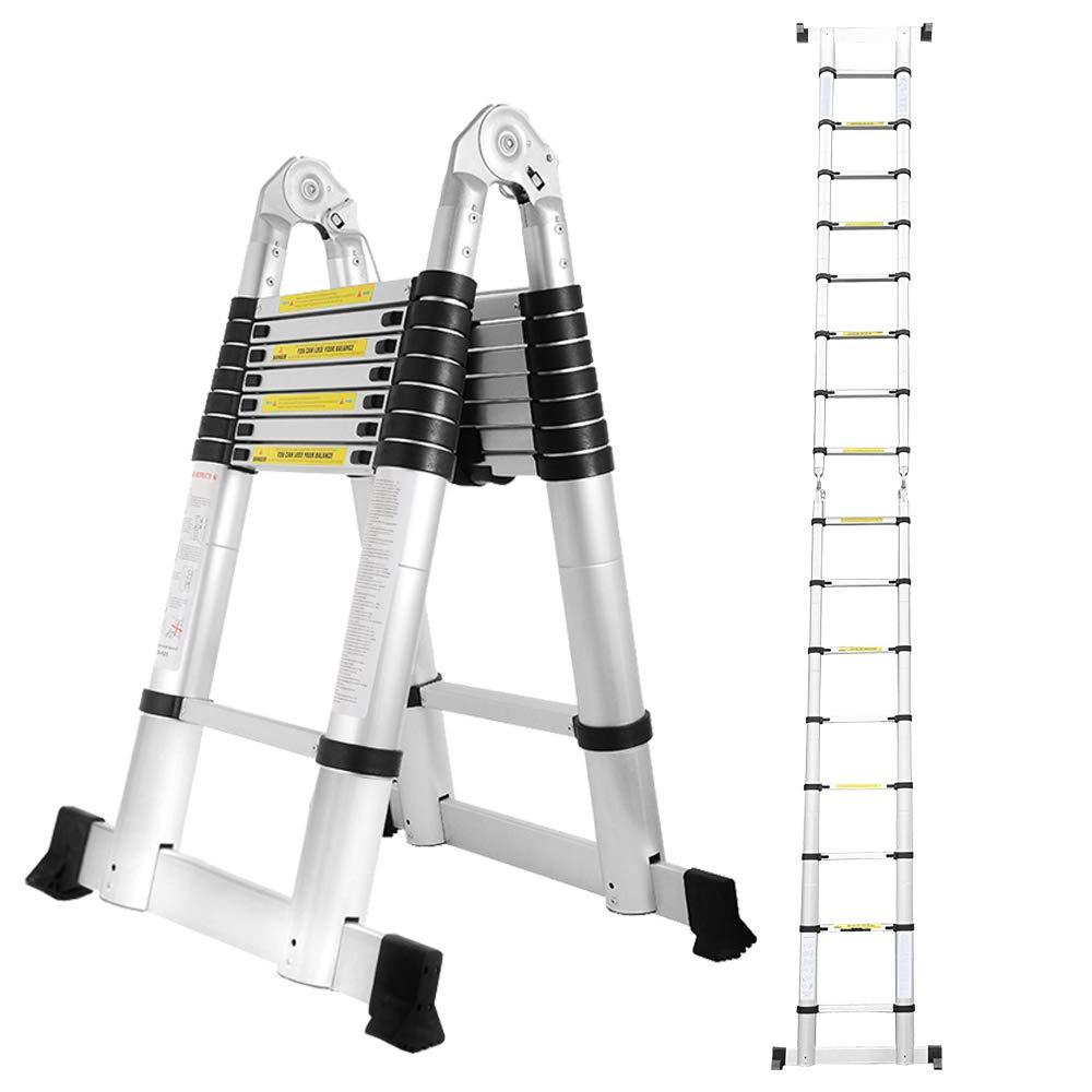 Hengda 5M Teleskopleiter, Ausziehbare Leiter Rutschfester