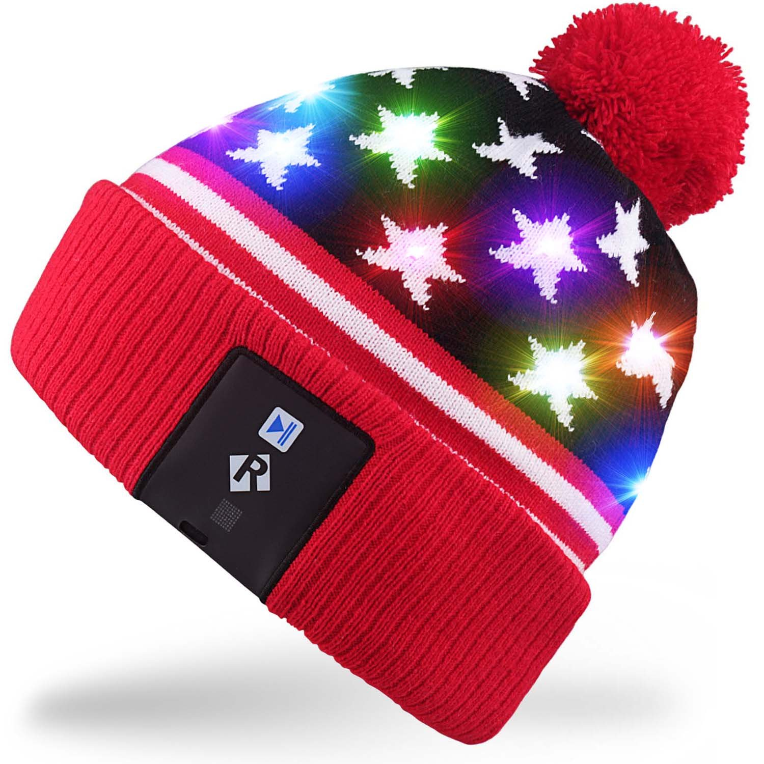 Rotibox Stilvolle LED-Lampe Leuchten Beanie Hut Stricken Kappe
