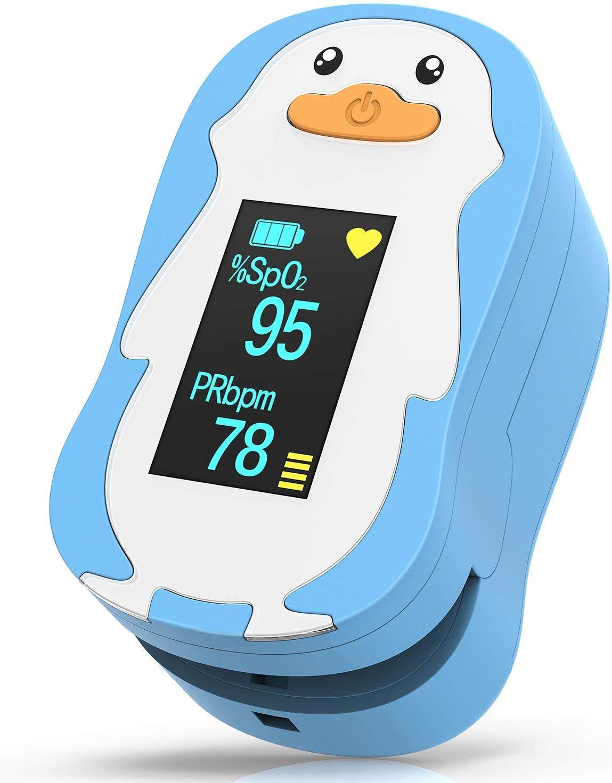 HOMIEE Pulsoximeter für Kinder, Fingerpulsoximeter zur Messung