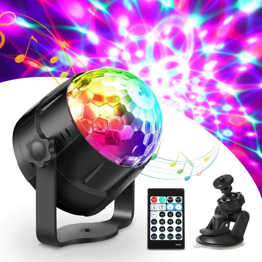 LED Discokugel Discolicht Haofy Musikgesteuert Disco Lichteffekte RGB Partylicht