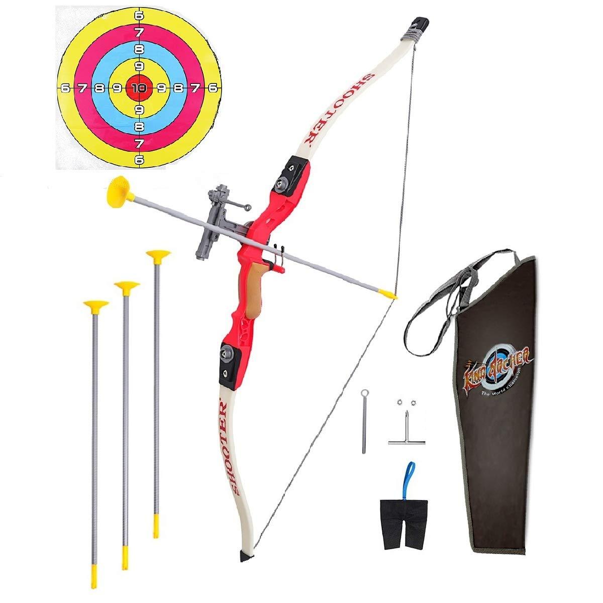 Pickwoo Kinder Bogen und Pfeil Spielzeugset und Zielscheibe 1 / 1.8 Bogenschießen Sportspiele Schießübung Rennen