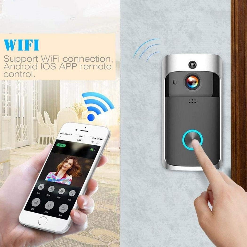 80% off Home Wireless Remote Monitoring Zwei-Wege-Video-Türklingel in Echtzeit Überwachungskameras