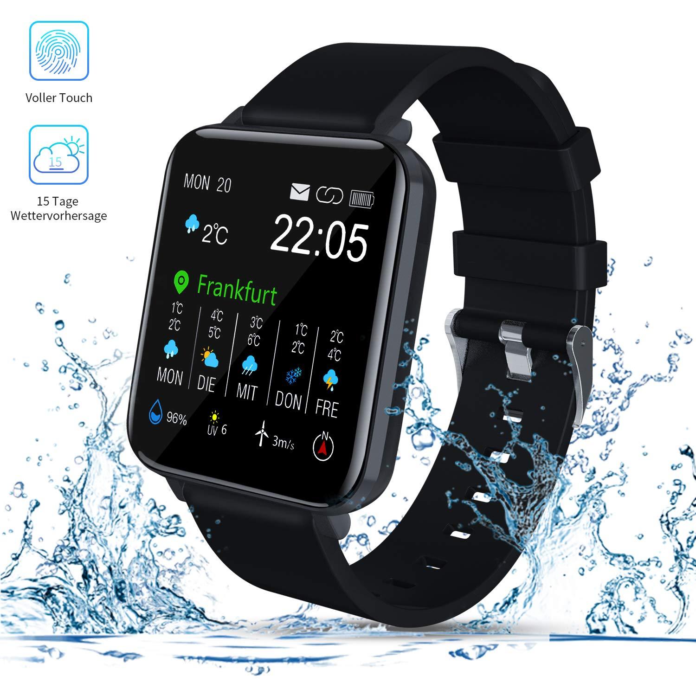 """Smartwatch, Zagzog 1,54""""Vollfarb-Touchscreen 15 Tage Wettervorhersage GPS-Tracking"""