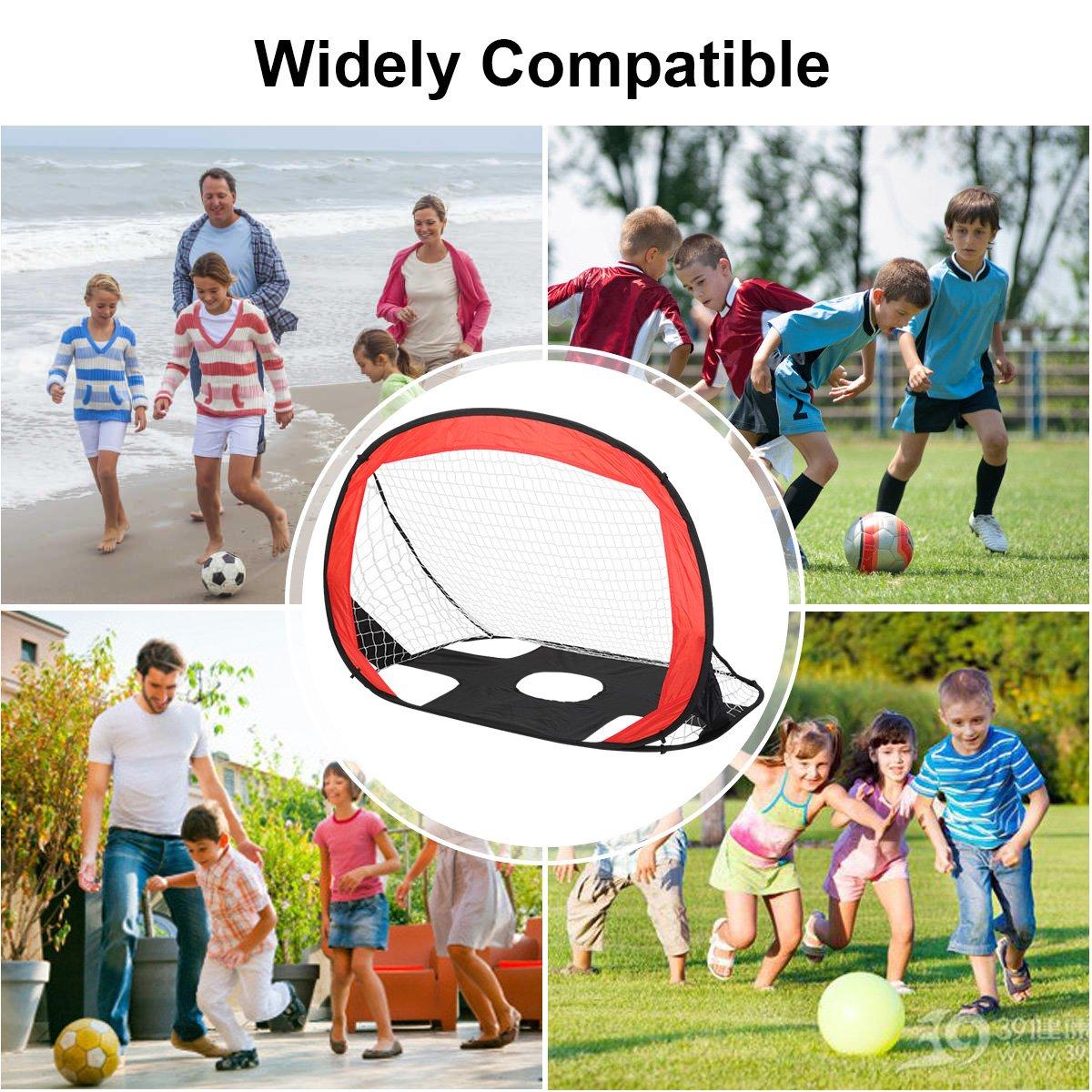 Shinehalo 2 in 1 Tragbare und Faltbare Pop Up Fußballtor für Kinder