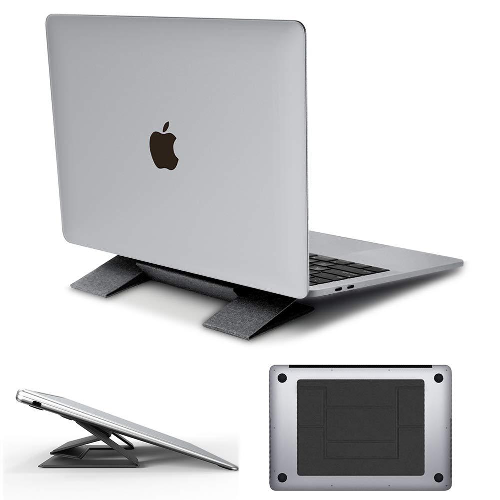 Elekpopu Laptop Ständer Faltbar, Unsichtbarer, Leichter, Ergonomischer höhenverstellbarer tragbarer Laptopständer für Laptops