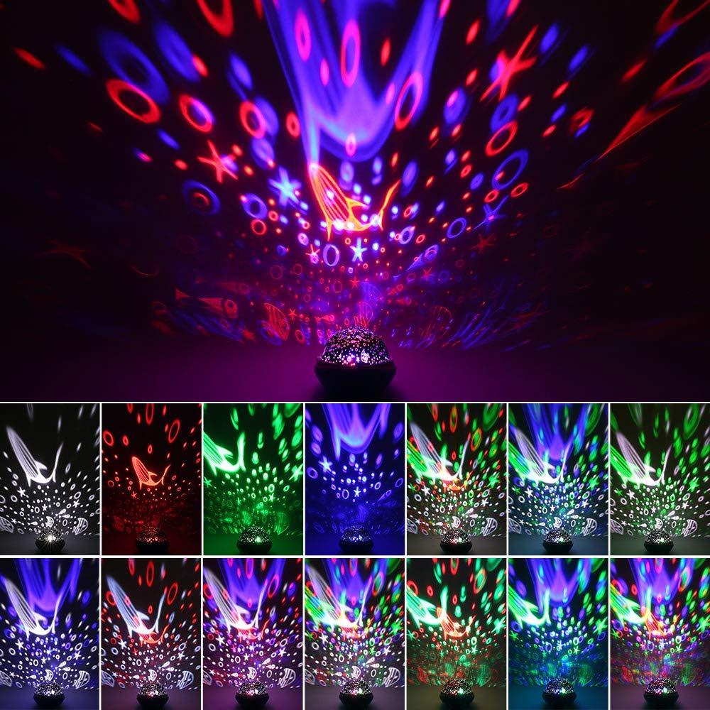 Sternenhimmel Projektor Lampe mit 4 Lampenschirmen