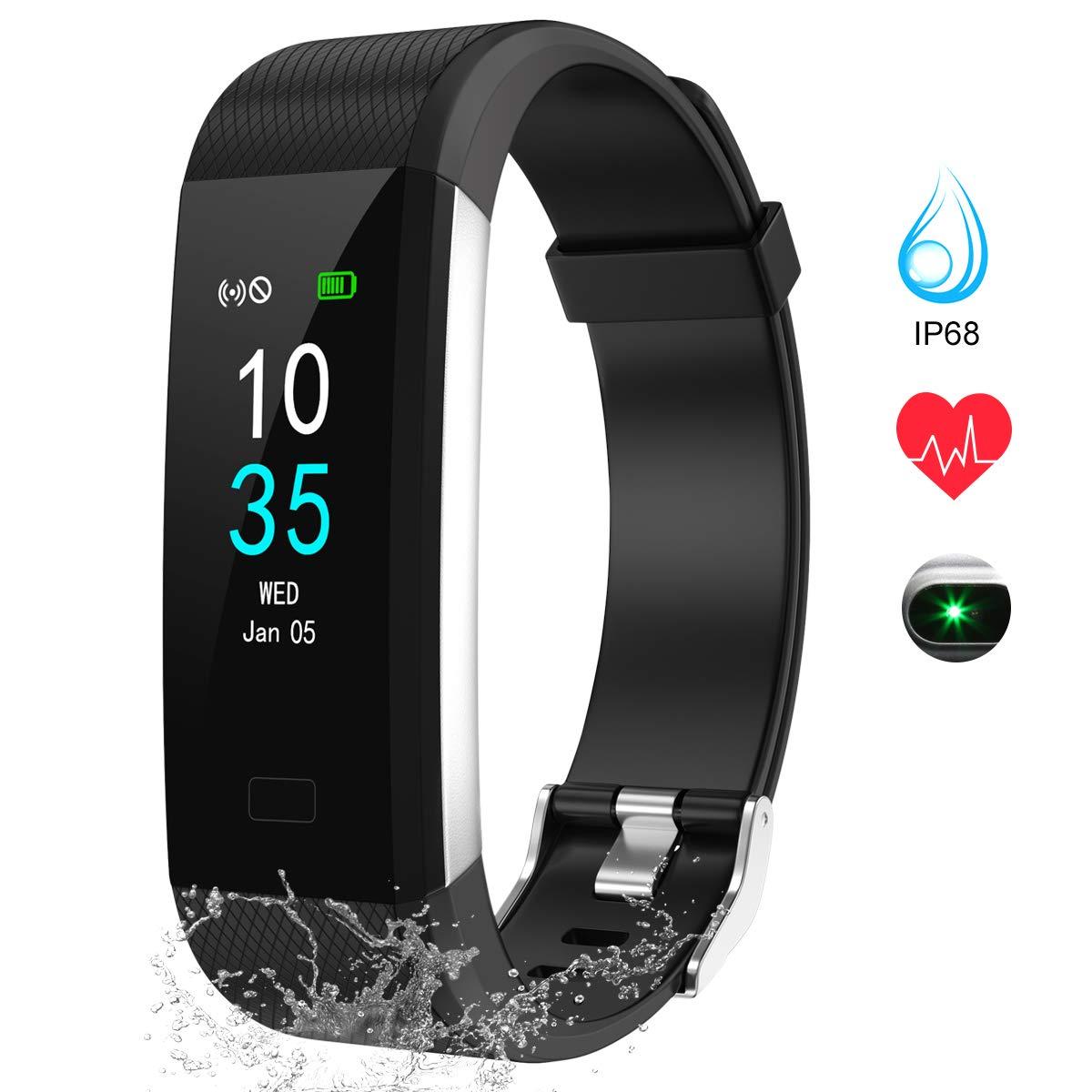 LEBEXY Fitness Armband mit Pulsmesser Wasserdicht IP68